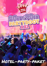 Hotel-Party-Paket 90er Partyboot XXL Sa. 14.5.2022