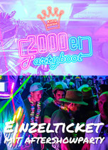 90/2000er Partyboot mit Aftershowparty 6.8.2022