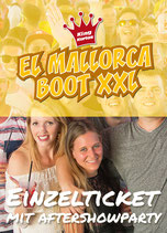 EL Mallorca Boot XXL mit Aftershowparty 5. Juni 2022