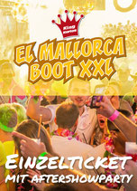 EL Mallorca Boot XXL mit Aftershowparty 17. Juni 2022