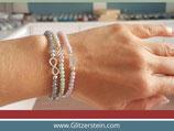 Armband-Fertigung (inkl. Glitzerstein-Logo 925 Silber)