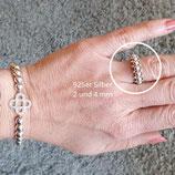 Ring DIY Komplett-Set in 925 Silber vergoldet/ Bicolor