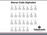 Buchstaben Morse Code 925 Silber vergoldet