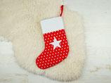 Nikolausstiefel rot Sterne