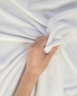 kuscheliger Polyesterfleece weiß