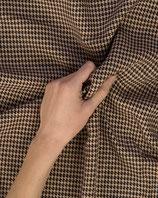 Mantelstoff Wollmischung Hahnentritt lachsrosa schwarz