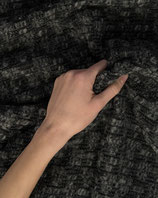 Mantelstoff Wollmischung Struktur grau