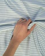 Jerseystoff Streifen hellblau