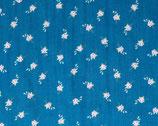 Musselin blau Blümchen