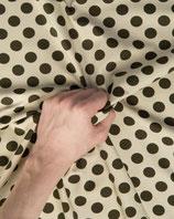 Jerseystoff beige braun gepunktet
