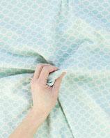Bekleidungsstoff 283 Jacquard Stoff hellblau weiß