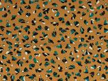 Viskose Farbe senfgelb mit grün, schwarz, weißen Sprenkeln