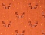 Musselin orange Punkte Bögen