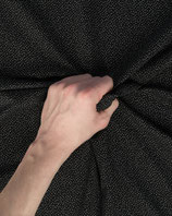 Jersey Stoff schwarz weiß gepunktet