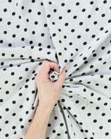 Bekleidungsstoff Viskose 319 weiß schwarz gepunktet