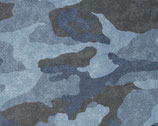 French Terry 235 Camouflage blau