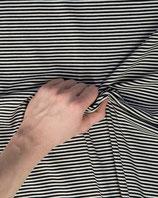 Jersey Stoff hellgrau-dunkelgrau gestreift by Stenzo