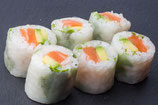 Roll roquette saumon avocat