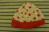 WENDE-BEANIE-Mütze mit Sternen  GRÖSSE: ca. 74