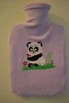 Wärmeflasche mit Überzug lila mit Panda
