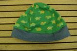 WENDE-BEANIE-Mütze grün mit Schildkrötli GRÖSSE ca. 68