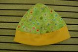 WENDE-BEANIE-Mütze hellgrün mit gemustert GRÖSSE ca. 68