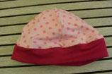 WENDE-BEANIE-Mütze rosa mit Punkten ca. GRÖSSE 62