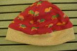 WENDE-BEANIE-Mütze pink mit Schildkrötli GRÖSSE ca. 68