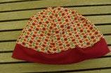 WENDE-BEANIE-Mütze mit Blumenmuster  GRÖSSE: ca. 74
