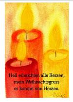 Hell erleuchten alle Kerzen