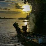 Levé de soleil sur le Mékong