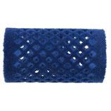 Metallwickler beflockt, 36mm, blau