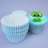 Cupcakes Förmchen hellblau - 60 Stück