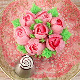 Rose Bud und Blooming Rose Spritztüllen gross 2er Set