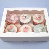6er Cupcake Box weiss