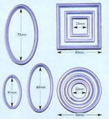 Fmm Geometrische Ausstecher, 10er Set