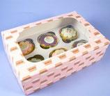 6er Cupcake Box Cupcake Motiv - 2er Set