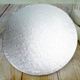 12mm Tortenboden Rund Silber, 25cm
