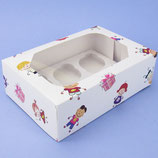 6er Kinder Cupcake Box - 2er Set