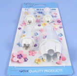PME Set Of 4 Plastic Flower Blossom Plunger Cutters