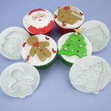 Pavoni Christmas Cookie Cutters  - 4er Set