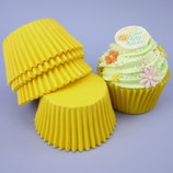 Cupcakes Förmchen gelb - 60 Stück