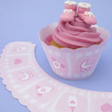 Baby Cupcake Wrappers rosa