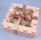 4er Cupcake Box mit Cupcakes - 2er Set