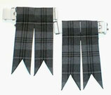 Kilt flashes Granite grey