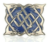Kilt belt buckle serpent blue chrome