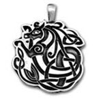 Hanger pewter Celtic dragon