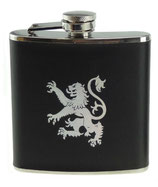 Whisky hip flask Lion