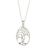 Hanger zilver levensboom.