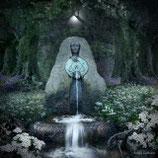 Dubbele wenskaart Lady of the sacred well